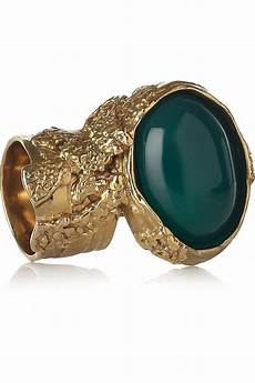 yves laurent arty gold plated glass ring glass rings
