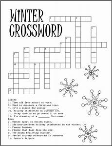 winter crossword worksheets 19981 printable winter crossword