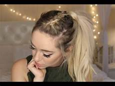 super easy braid ponytail lifeofmeganandliz youtube