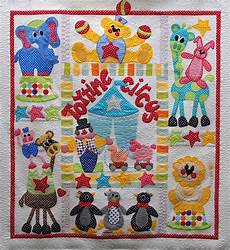 applique quilting quilts on bastings time circus a baby applique quilt