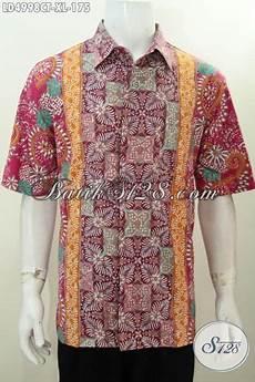 baju kerja batik size xl bahan halus adem nyaman di pakai produk kemeja batik lelaki