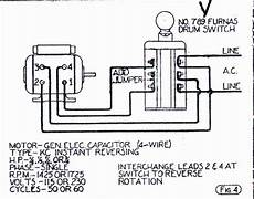 help wiring ge motor to furnas forward switch