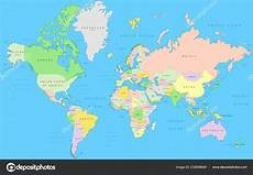 carte monde politique atlas d 233 vecteur dans projection