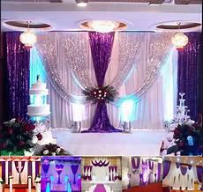 20x10ft wedding backdrop curtain purple decor sparkly