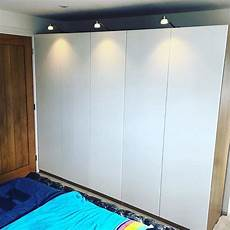 ikea pax wardrobe with exterior led lighting flat