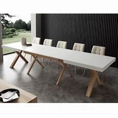table de salle a manger extensible table extensible de salle 224 manger blanche en bois massif