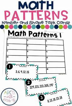 shapes pattern worksheets for grade 1 1234 math patterns task cards