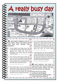 giving directions maths worksheets 11734 a really busy day worksheet free esl printable worksheets made by teachers learn hebrew
