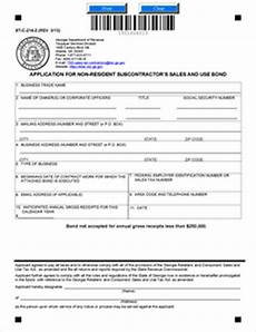 form st c 214 2 application for subcontractors sales and use bond rev 3 13 fill in online