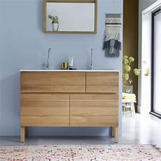 Tikamoon Easy Oak And Ceramic Vanity Cabinet 120