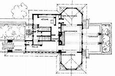 prairie house frank lloyd wright plan f b henderson house elmhurst illinois 1901 prairie