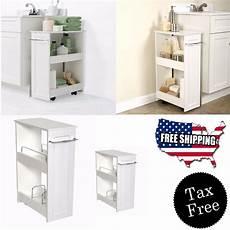 Bathroom Cabinet Organizer narrow wood floor rolling bathroom toilet storage cabinet