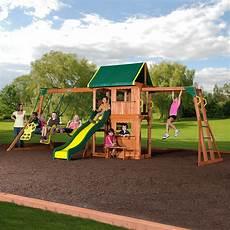 playground swing sets outdoor cedar wooden swing set play center slide