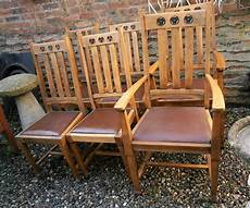 arts crafts oak dining chairs antiques atlas