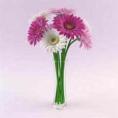 vasi con fiori 3d vase gerbera flowers