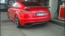 audi tt rs verry loud sound start up and acceleration in