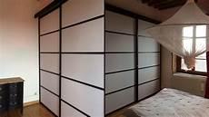 porte coulissante 3 vantaux porte de placard coulissante japonaise en 3 vantaux