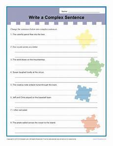 writing complex sentences worksheets 22137 write a complex sentence worksheet