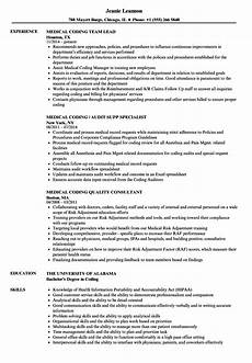 7 experienced medical coder resume financialstatementform