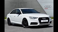 audi a4 tdi quattro s line black edition white 2018 youtube