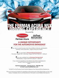 the acura nsx driving experience at ferman acura