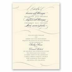 love never fails invitation invitations by dawn