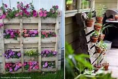 pot de fleur en palette palettes porte pots de fleurs de images idees32