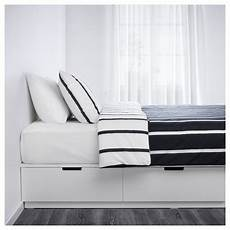 ikea nordli white bed frame with storage in 2019
