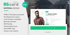 card templates html 21 professional html css resume templates for free