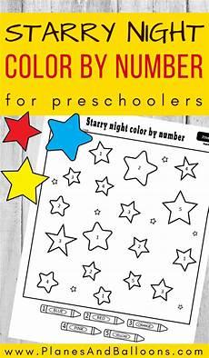 worksheets for college students 18545 starry color by number in 2020 number activities preschool free preschool worksheets