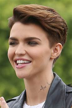 ruby rose straight medium brown choppy layers hairstyle steal her style