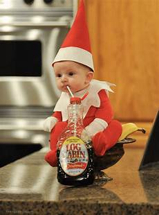 dad transforms his baby into real life elf a shelf the results are so adorable virascoop