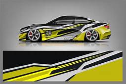 Sport Car Decal Wrap Design Vector Graphic Abstract