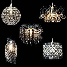 modern chandelier style ceiling light l shade drop pendant acrylic crystal ebay