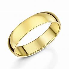 18ct yellow gold plain wedding band bridal from leonard dews uk