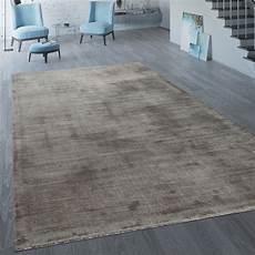 Handgefertigter Vintage Teppich Einfarbig Taupe Teppich De