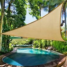 color option 16 5 triangle sun shade sail yard canopy