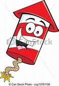 Cartoon Firecracker Illustration Of A Smiling