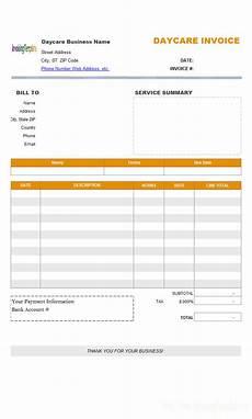 daycare receipt template canada travel service bill format
