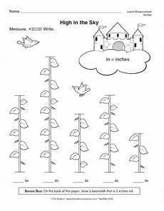 math measurement worksheets grade 1 1747 math worksheet measuring height inches 2014 2015 school year the beanstalk