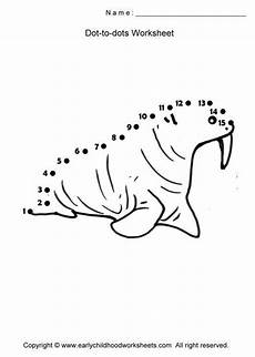 arctic animals worksheets for preschool 14127 http www earlychildhoodworksheets dot to dots fish walrus jpg dot worksheets animal