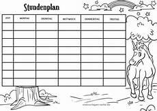 Gratis Malvorlagen Stundenplan Stundenplan Vorlage Einhorn Ausmalbilder Kostenlos