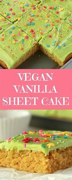 vegan vanilla sheet cake loving it vegan