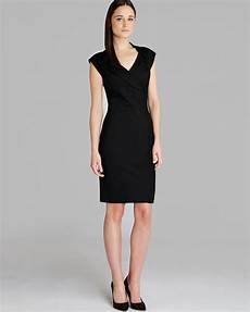 lyst ted baker dress dixy crossover fitted in black
