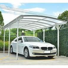 tettoia auto tettoia auto in alluminio bianco 3x5 05m e policarbonato