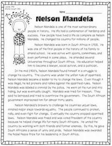nelson mandela and south africa 3 passages w questions for text evidence
