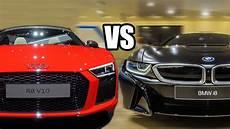 bmw ou audi bmw i8 ou audi r8 v10 plus qual comprarias para ti tuga cars