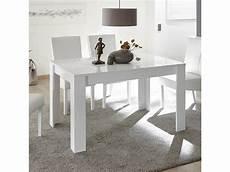 table blanc laqué rallonge table de repas blanc laqu 233 design 140 cm avec rallonge
