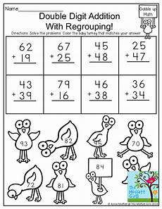 addition without regrouping grade 1 2 digit addition with regrouping solve the problems and