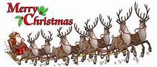 merry christmas santa claus with sleigh and reindeer wall decor decal walmart com walmart com